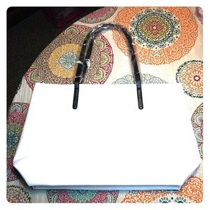 NWOT Kenneth Cole White Tote Bag